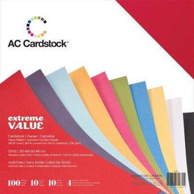 AC 71660 - AC Cardstock Value Pack (100 Sheets)