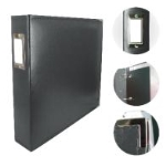ADCO 725395 - Couture Creations 12x12 D-Ring Leather Album - Black (5 Refills included)