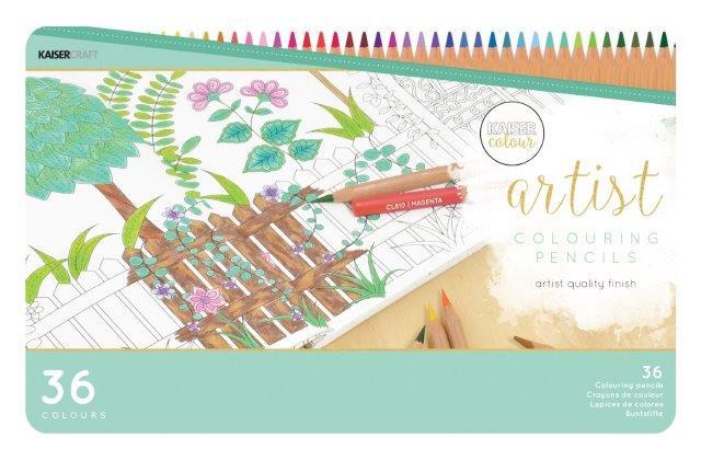 KCCL903 - Kaisercolour Artist Coloured Pencils 36 pieces Tin