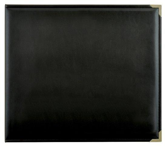 KCSA002 - Kaisercraft 12x12 D-Ring Leather Album - Black