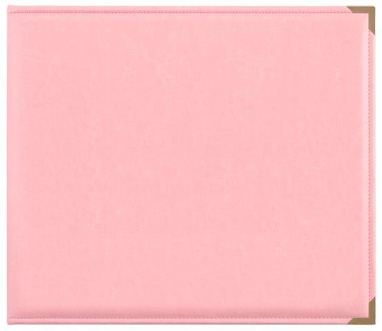KCSA004 - Kaisercraft 12x12 D-Ring Leather Album - Pink