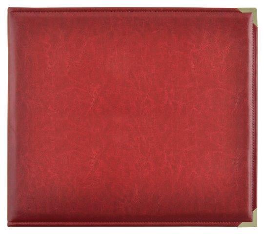 KCSA006 - Kaisercraft 12x12 D-Ring Leather Album - Deep Red