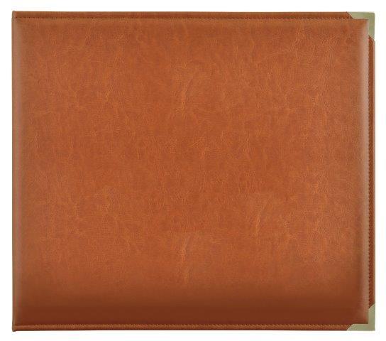 KCSA007 - Kaisercraft 12x12 D-Ring Leather Album - Tan