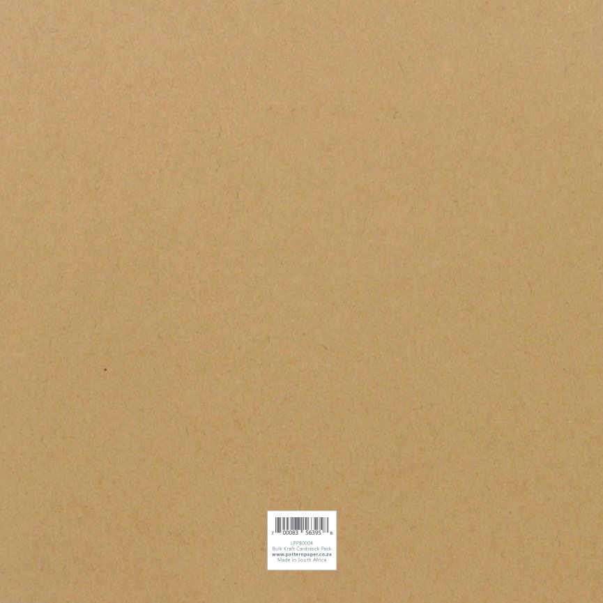 LPPB0004 - Kraft Essentials Plain Cardstock Bulk Pack (100 Sheets)
