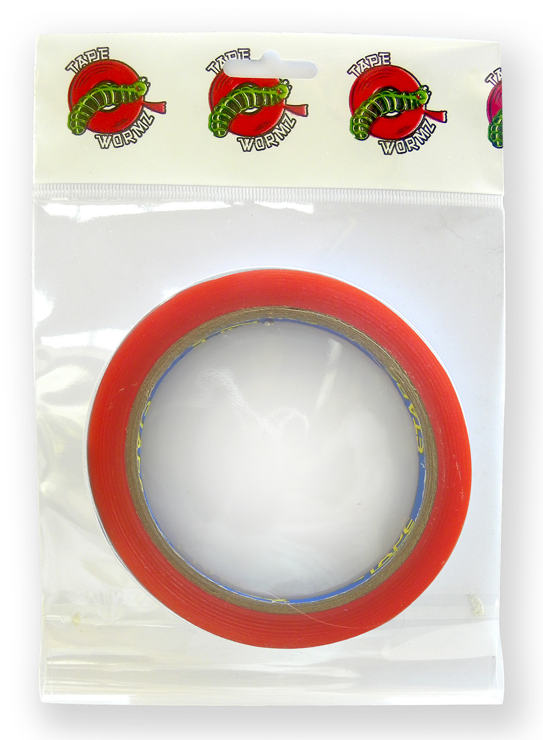 TWR018 - Tape Wormz Red Double Sided High Tack Tape - 12mm x 10m